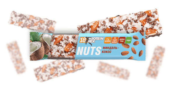 Орехово-протеиновый батончик миндаль-кокос